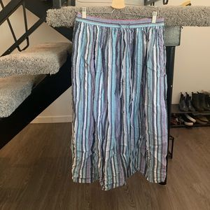 Multi-Colored Orvis Maxi Skirt Size Small